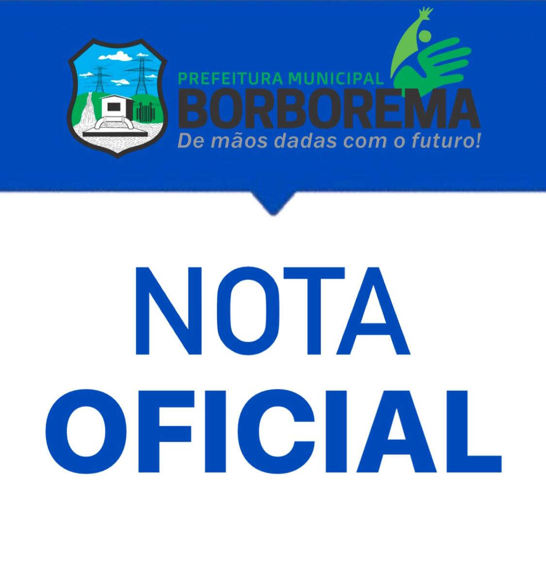 Prefeitura de Borborema emite Nota de Esclarecimento sobre a quantidade de aplicação de vacinas contra Covid-19
